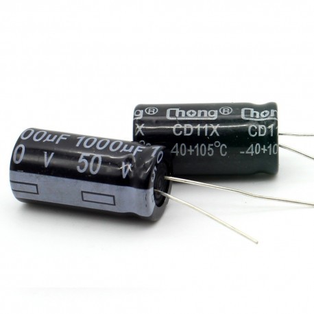 2c Condensateur electrolitique radial 1000uF 50V 13x26mm