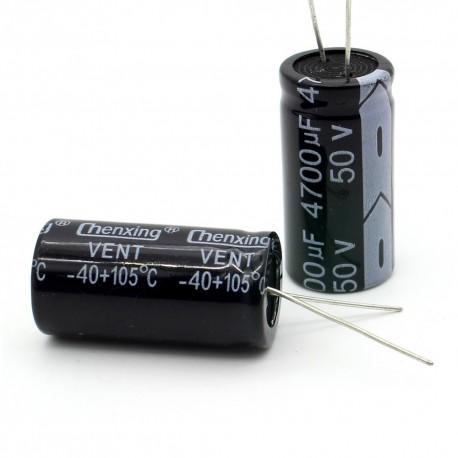 Condensateur electrolitique radial 4700uF 50V 19x40mm