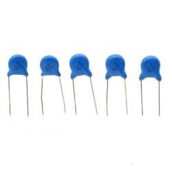 5x Condensateur ceramique 102 - 1nf - 3kv - 3000v Haute Tension - 53con131
