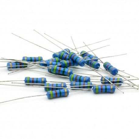 20x Résistances carbone 4.3Mohm - 1/2W - 0.5w - 5% - Royal Ohm