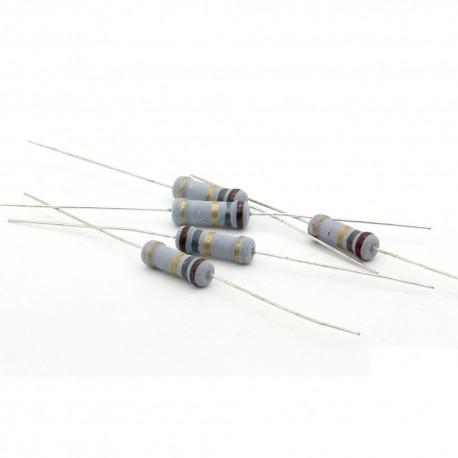 5x Résistance métal oxyde 1w - 1.8R - 100ohm - 5%