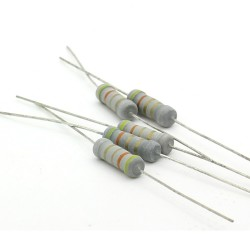 5x Résistance métal oxyde 1w - 4.3R - 4.3ohm - 5% - 193res489