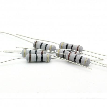5x Résistance métal oxyde 1w - 10R - 4.3ohm - 5%