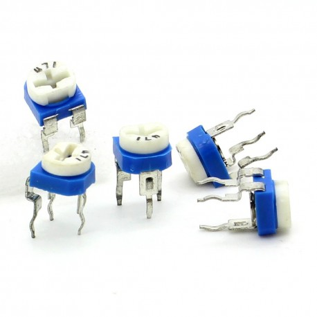 5x Trimmer 471 - 470 ohm - 0.1W Resistance Variable Rm-65