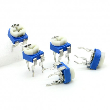 5x Trimmer 302 - 3K ohm - 0.1W Resistance Variable Rm-65