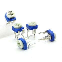 5x Trimmer 103 - 10K ohm - 0.1W Resistance Variable Rm-65 - 197pot047