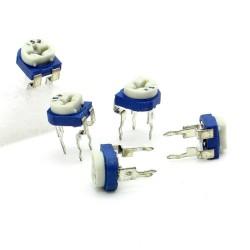 5x Trimmer 153 - 15K ohm - 0.1W Resistance Variable Rm-65 - 197pot048