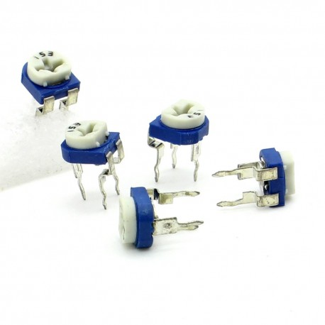 5x Trimmer 153 - 15K ohm - 0.1W Resistance Variable Rm-65