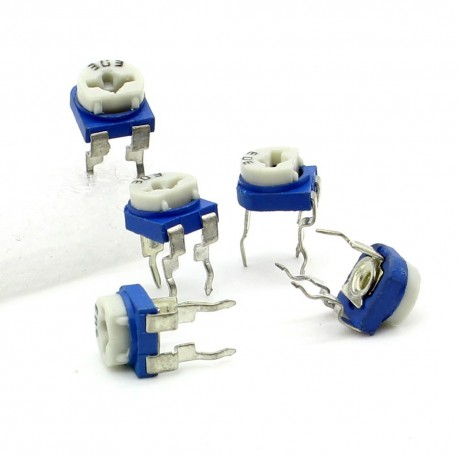 5x Trimmer 303 - 30K ohm - 0.1W Resistance Variable Rm-65