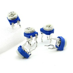 5x Trimmer 104 - 100K ohm - 0.1W Resistance Variable Rm-65 - 197pot053