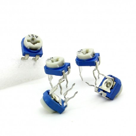 5x Trimmer 154 - 150K ohm - 0.1W Resistance Variable Rm-65