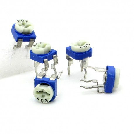 5x Trimmer 204 - 200K ohm - 0.1W Resistance Variable Rm-65
