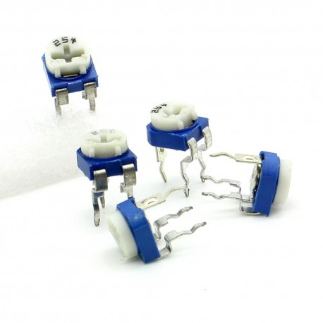 5x Trimmer 254 - 250K ohm - 0.1W Resistance Variable Rm-65
