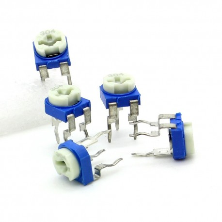 5x Trimmer 304 - 300K ohm - 0.1W Resistance Variable Rm-65
