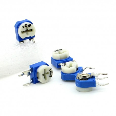 5x Trimmer 102 - 1k ohm - 0.1W Resistance Variable Rm-63