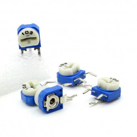 5x Trimmer 103 - 10k ohm - 0.1W Resistance Variable Rm-63