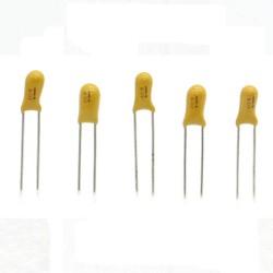 5x Condensateur Tantale AVX 0.1uF - 50v - 104 - radial - 85con413