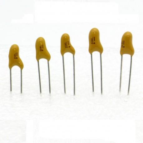 5x Condensateur Tantale AVX 0.22uF - 50v - 224 - radial - 85con414