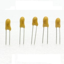 5x Condensateur Tantale AVX 0.33uF - 50v - 334 - radial - 85con415