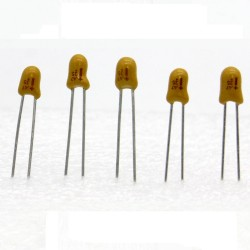 5x Condensateur Tantale AVX 0.47uF - 35v - 47 - radial - 85con416