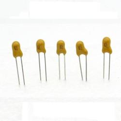 5x Condensateur Tantale AVX 0.68uF - 50v - 684 - radial - 85con417