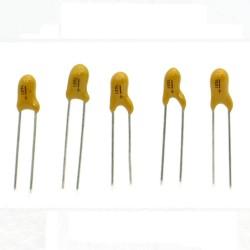 5x Condensateur Tantale AVX 1uF - 35v - 105 - radial - 85con418