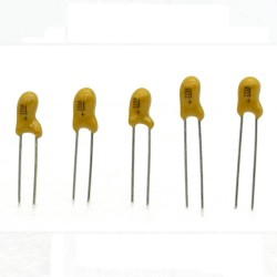 5x Condensateur Tantale AVX 2.2uF - 25v - 225 - radial - 85con420