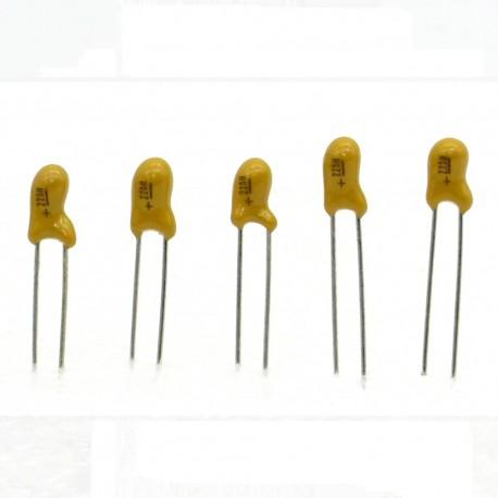 5x Condensateur Tantale AVX 2.2uF - 25v - 225 - radial