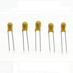 5x Condensateur Tantale AVX 3.3uF - 25v - 335 - radial - 85con421