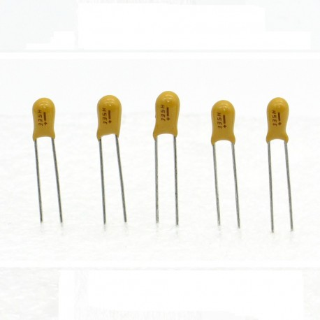 5x Condensateur Tantale AVX 3.3uF - 25v - 335 - radial