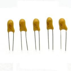 5x Condensateur Tantale AVX 4.7uF - 25v - 475 - radial - 85con422