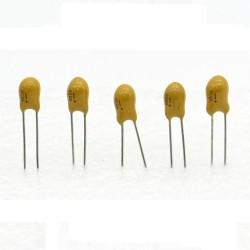5x Condensateur Tantale AVX 6.8uF - 25v - 685 - radial - 85con423
