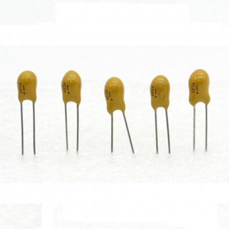 5x Condensateur Tantale AVX 6.8uF - 25v - 685 - radial
