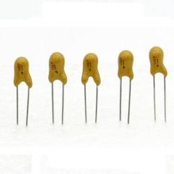 5x Condensateur Tantale AVX 10uF - 16v - 106 - radial - 85con424