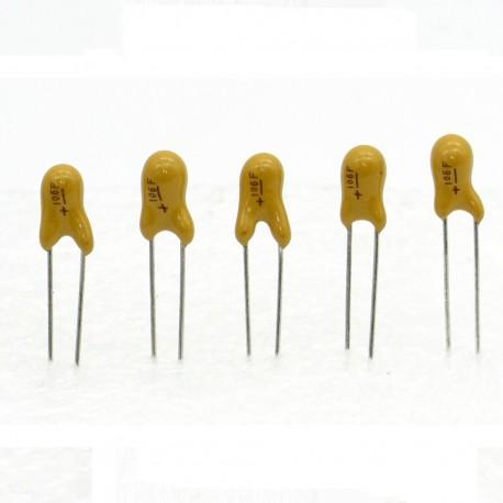 5x Condensateur Tantale AVX 10uF - 16v - 106 - radial
