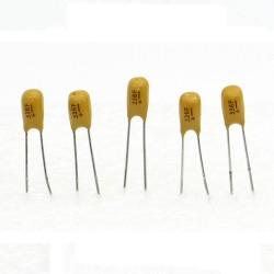 5x Condensateur Tantale AVX 33uF - 16v - 336 - radial - 85con426