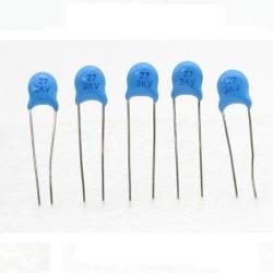 5x Condensateur ceramique 27pf - 3kv - 3000v Haute Tension - 199con427