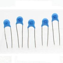 5x Condensateur ceramique 47pf - 3kv - 3000v Haute Tension - 199con428
