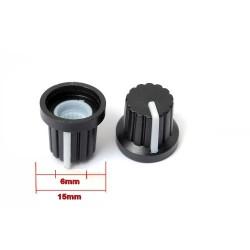 2x Bouchon potentiomètre 6mm plastique blanc - 78pot020