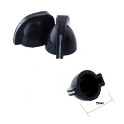 Bouchon potentiomètre 22 mm - trou de 6mm - 78pot026