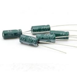 5x Condensateur electrolitique radial 2.2uF 50V 5x11mm - 204con437