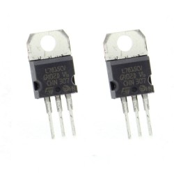 2x L7815CV - L7815 +15V 1.5A - Régulateur Tension - ST - T0-220 - 207IC006