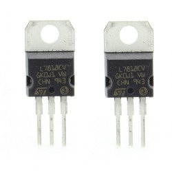 2x L7818CV - L7818 +18V 1.5A - Régulateur Tension - ST - T0-220 - 207IC007