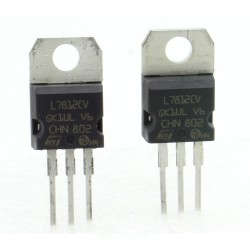 2x L7812CV - L7812 +12V 1.5A - Régulateur Tension - ST - T0-220 - 207IC008