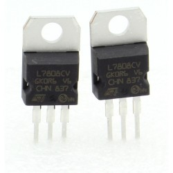 2x L7808CV - L7808 - 8V - 1.5A - Régulateur Tension - ST - 208IC014