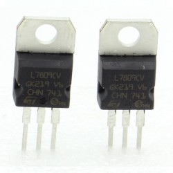 2x L7809CV - L7809 - 9V - 1.5A - Régulateur Tension - ST - 208IC015