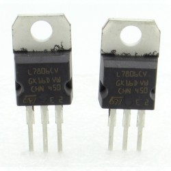 2x L7806CV - L7806 - 6V - 1.5A - Régulateur Tension - ST - 208IC016