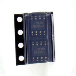 2x LM78L05A - 78L05 SMD Régulateur Tension - ST - SOIC-8 - 208IC017