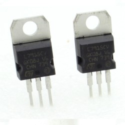2x L7915CV - L7915 -15V 1.5A - Régulateur Tension - ST - 208IC019