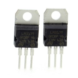 2x LM317T LM317 1.2V à 37V - 1.5A Regulateur tension - ST - 209IC022